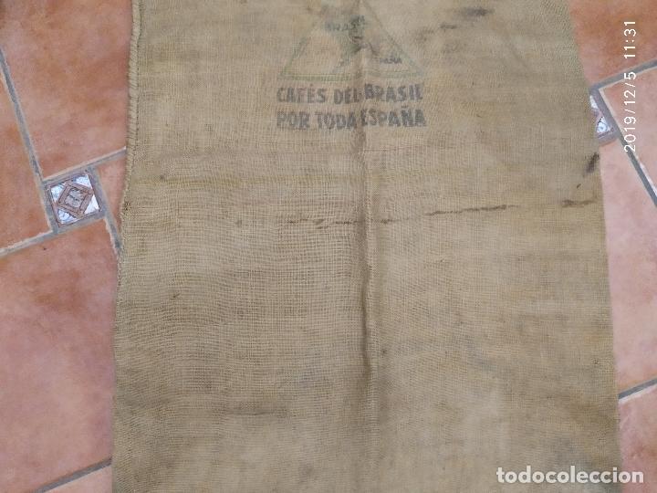 Antigüedades: SACO DE ARPILLERA DE CAFES DEL BRASIL POR TODA ESPAÑA PPS SIGLO XX - Foto 3 - 189700812