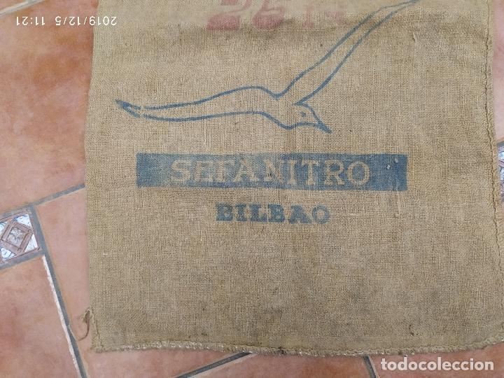 Antigüedades: SACO DE ARPILLERA DE NITROSULFATO AMONICO DE 80 kG 26N SEFANITRO BILBAO PPS SIGLO XX - Foto 4 - 189703203