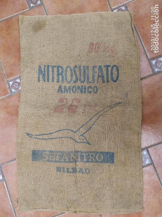 SACO DE ARPILLERA DE NITROSULFATO AMONICO DE 80 KG 26N SEFANITRO BILBAO PPS SIGLO XX (Antigüedades - Técnicas - Rústicas - Agricultura)