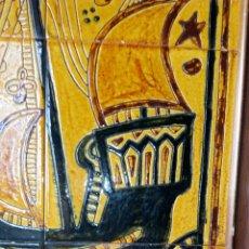 Antigüedades: CUADRO AZULEJOS ENMARCADO. Lote 189715057