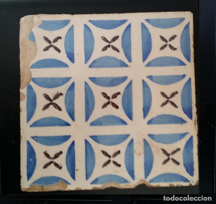 AZULEJO ANTIGUO, BALDOSA (Antigüedades - Porcelanas y Cerámicas - Azulejos)