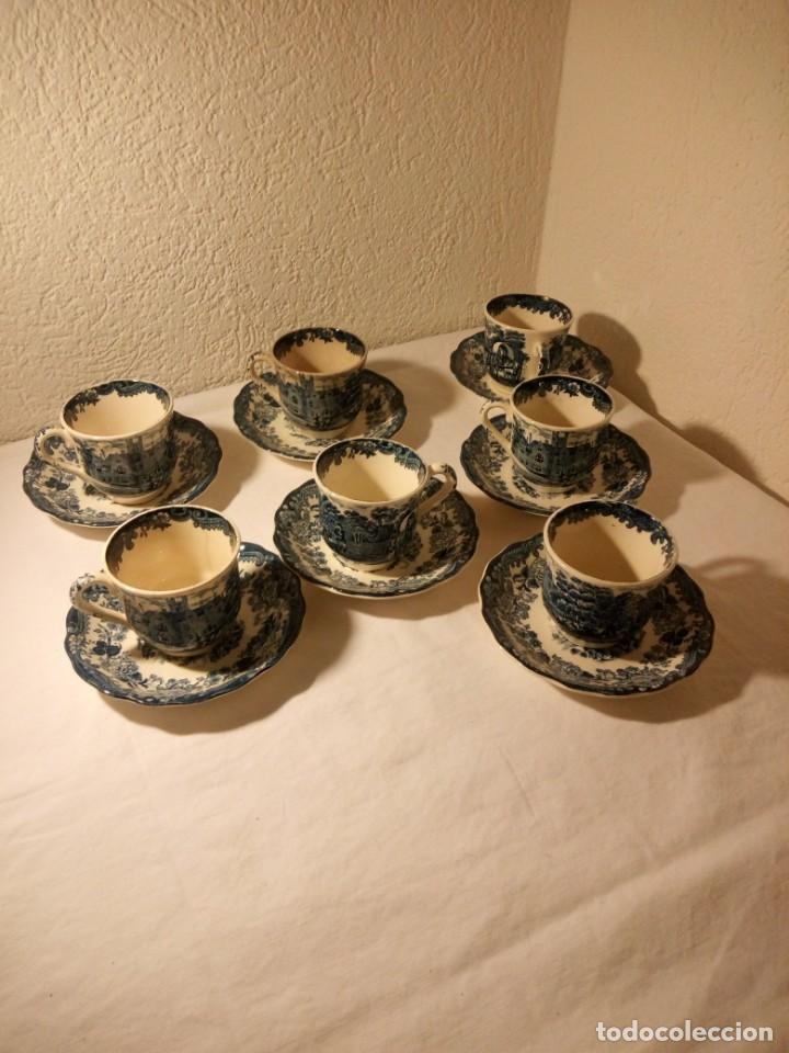 JUEGO DE CAFE ROYAL WORCESTER SPODE AVON TEA CUP & SAUCER PALISSY, ENGLAND 1790 AVON SCENES (Antigüedades - Porcelanas y Cerámicas - Inglesa, Bristol y Otros)