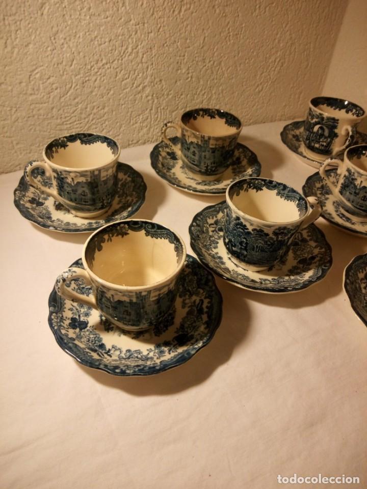 Antigüedades: Juego de cafe Royal Worcester Spode Avon Tea Cup & Saucer Palissy, England 1790 Avon Scenes - Foto 2 - 189743587