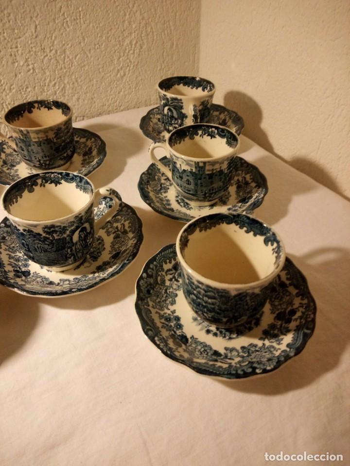 Antigüedades: Juego de cafe Royal Worcester Spode Avon Tea Cup & Saucer Palissy, England 1790 Avon Scenes - Foto 3 - 189743587