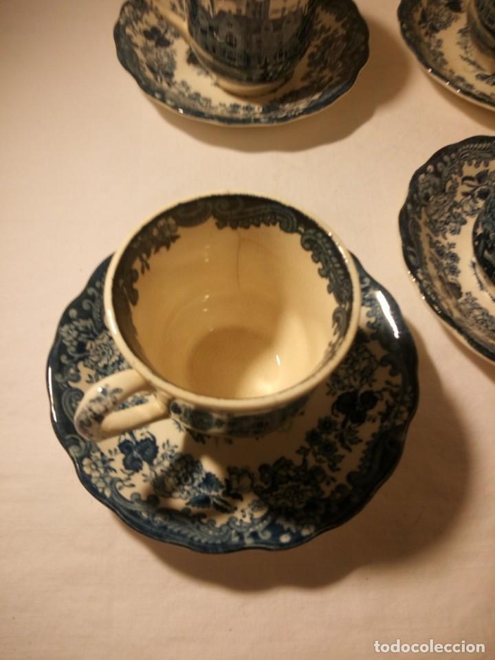 Antigüedades: Juego de cafe Royal Worcester Spode Avon Tea Cup & Saucer Palissy, England 1790 Avon Scenes - Foto 4 - 189743587