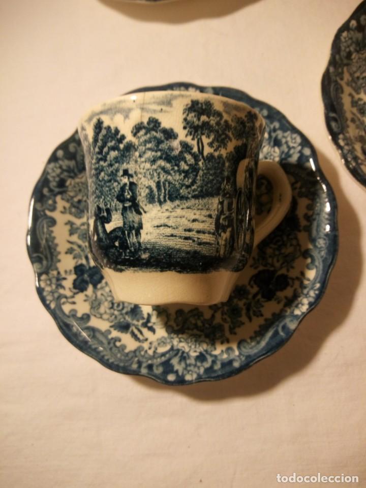 Antigüedades: Juego de cafe Royal Worcester Spode Avon Tea Cup & Saucer Palissy, England 1790 Avon Scenes - Foto 6 - 189743587