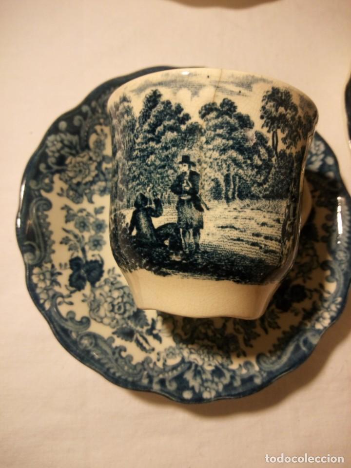 Antigüedades: Juego de cafe Royal Worcester Spode Avon Tea Cup & Saucer Palissy, England 1790 Avon Scenes - Foto 7 - 189743587