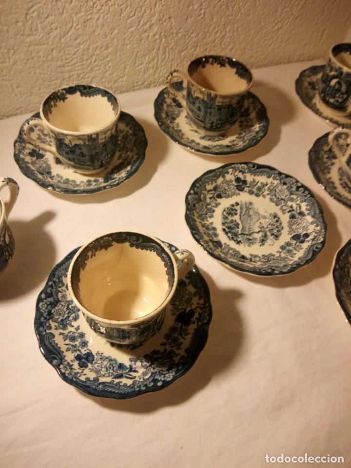 Antigüedades: Juego de cafe Royal Worcester Spode Avon Tea Cup & Saucer Palissy, England 1790 Avon Scenes - Foto 11 - 189743587