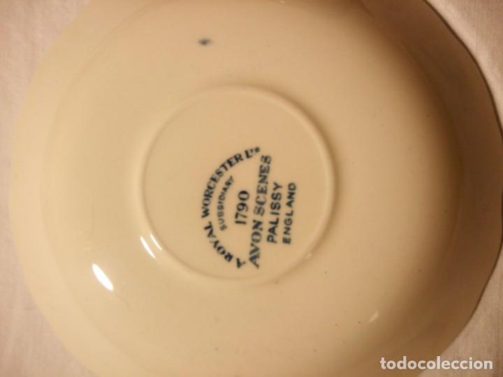 Antigüedades: Juego de cafe Royal Worcester Spode Avon Tea Cup & Saucer Palissy, England 1790 Avon Scenes - Foto 14 - 189743587