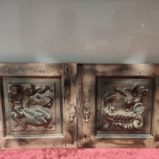 Antiquités: DOS CUARTERONES MADERA NOGAL. Lote 189749878