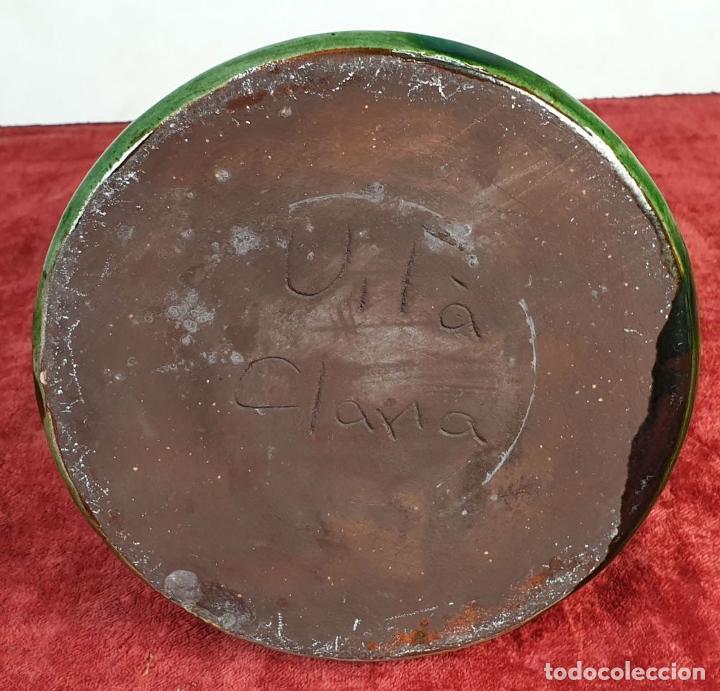 Antigüedades: COLECCION DE 11 PIEZAS DE CERÁMICA CATALANA. ESMALTADA. VILA CLARA. SIGLO XX. - Foto 26 - 189750821