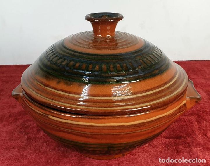 Antigüedades: COLECCION DE 11 PIEZAS DE CERÁMICA CATALANA. ESMALTADA. VILA CLARA. SIGLO XX. - Foto 31 - 189750821