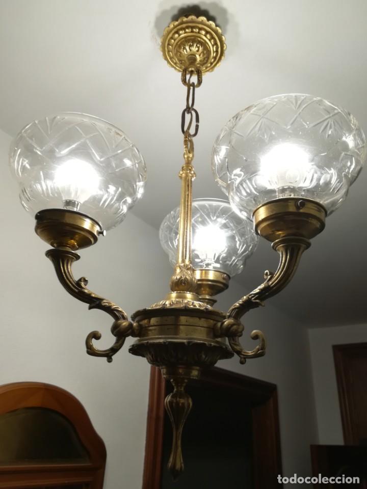 Antigüedades: Lámpara de tres brazos - Foto 2 - 189787568