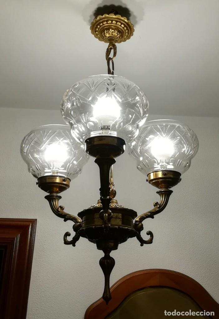 Antigüedades: Lámpara de tres brazos - Foto 3 - 189787568