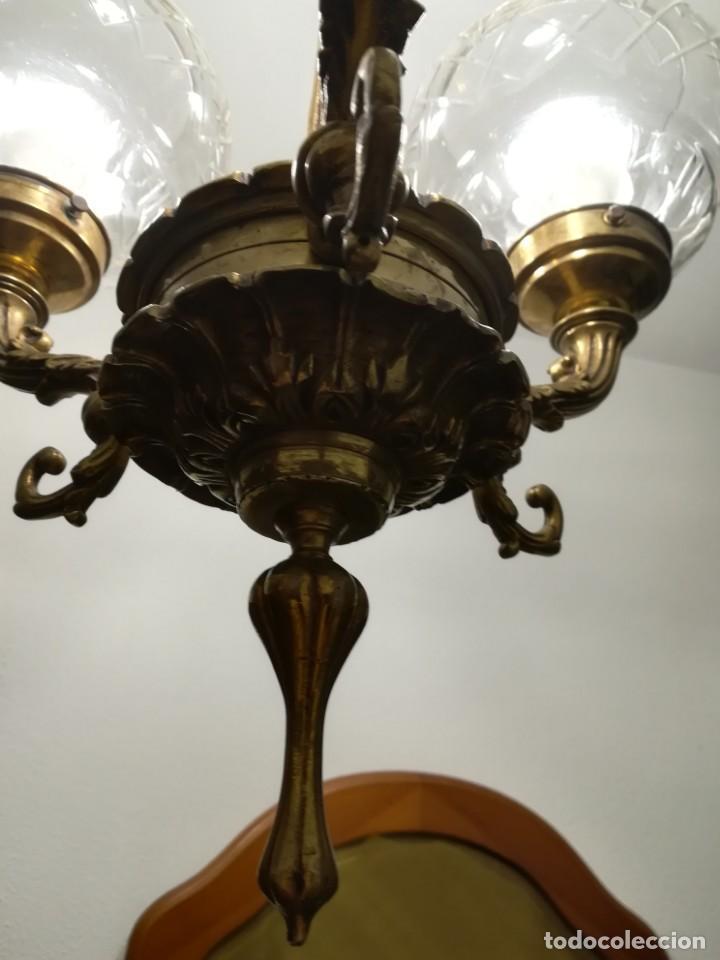 Antigüedades: Lámpara de tres brazos - Foto 5 - 189787568