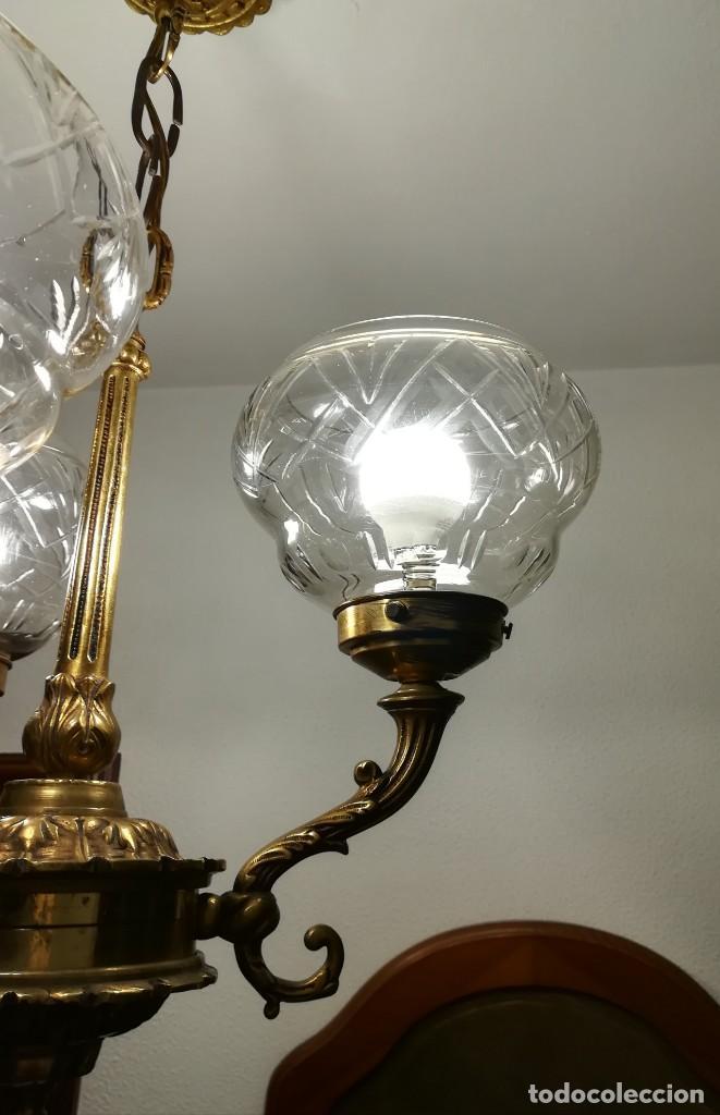 Antigüedades: Lámpara de tres brazos - Foto 6 - 189787568