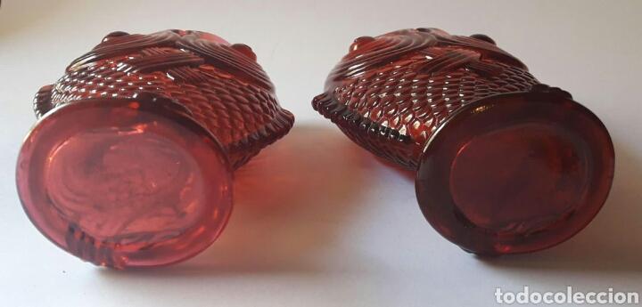 Antigüedades: Pareja de violeteros búcaro zoomorfos en forma de pez victorianos. Finales siglo XIX. - Foto 5 - 189814353