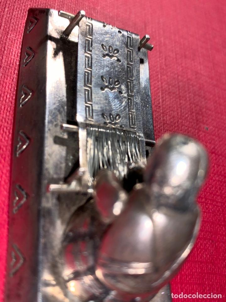 Antigüedades: Bonita pieza china en plata contrastada . Finales de siglo XIX, principios de siglo XX - Foto 6 - 189814501