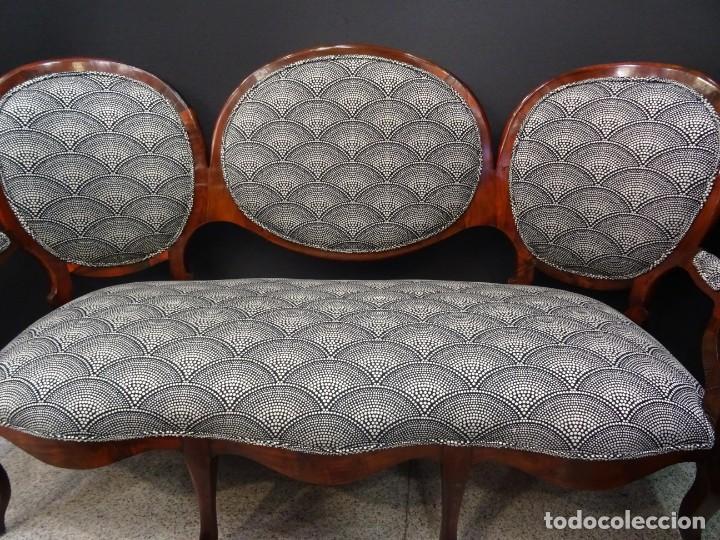 Antigüedades: Canapé Luis XV S.XIXen madera decaoba y recién tapizado por Cole&Son - Foto 6 - 188052595
