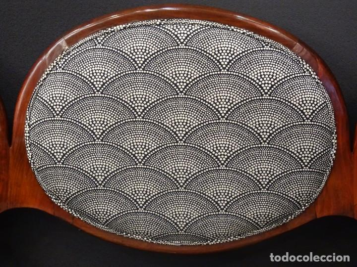 Antigüedades: Canapé Luis XV S.XIXen madera decaoba y recién tapizado por Cole&Son - Foto 8 - 188052595