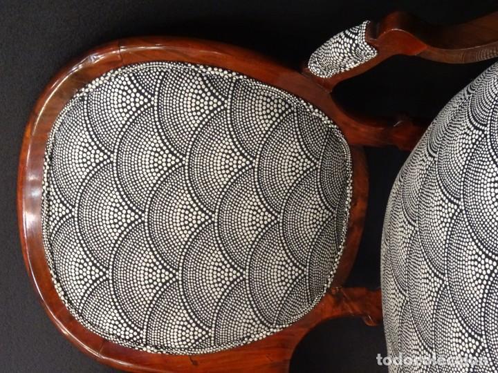 Antigüedades: Canapé Luis XV S.XIXen madera decaoba y recién tapizado por Cole&Son - Foto 10 - 188052595