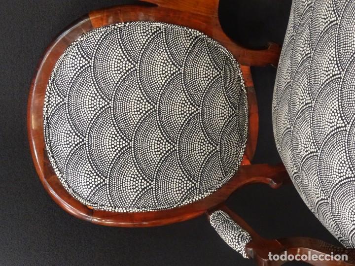 Antigüedades: Canapé Luis XV S.XIXen madera decaoba y recién tapizado por Cole&Son - Foto 11 - 188052595