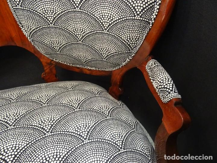 Antigüedades: Canapé Luis XV S.XIXen madera decaoba y recién tapizado por Cole&Son - Foto 15 - 188052595