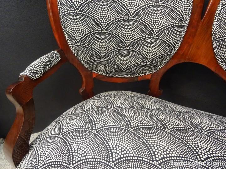 Antigüedades: Canapé Luis XV S.XIXen madera decaoba y recién tapizado por Cole&Son - Foto 16 - 188052595