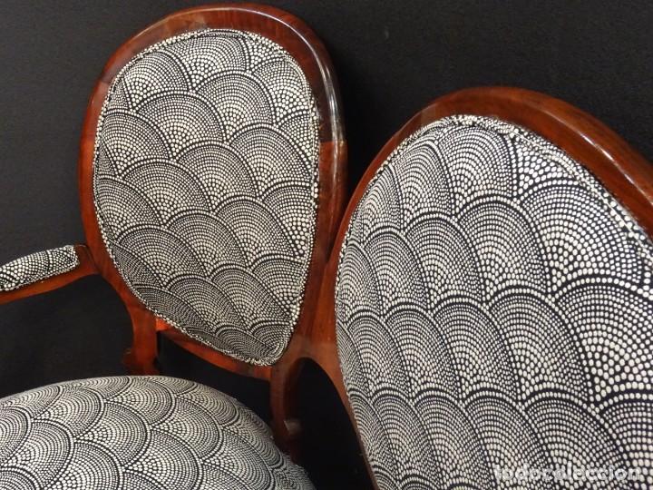 Antigüedades: Canapé Luis XV S.XIXen madera decaoba y recién tapizado por Cole&Son - Foto 22 - 188052595