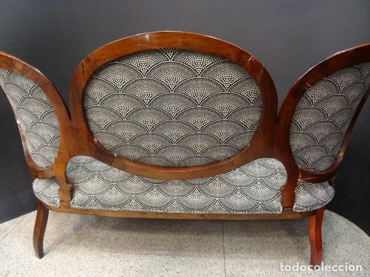 Antigüedades: Canapé Luis XV S.XIXen madera decaoba y recién tapizado por Cole&Son - Foto 25 - 188052595