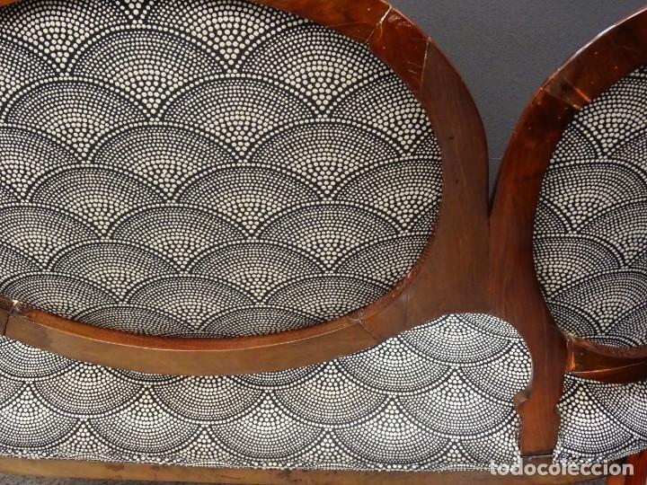Antigüedades: Canapé Luis XV S.XIXen madera decaoba y recién tapizado por Cole&Son - Foto 27 - 188052595