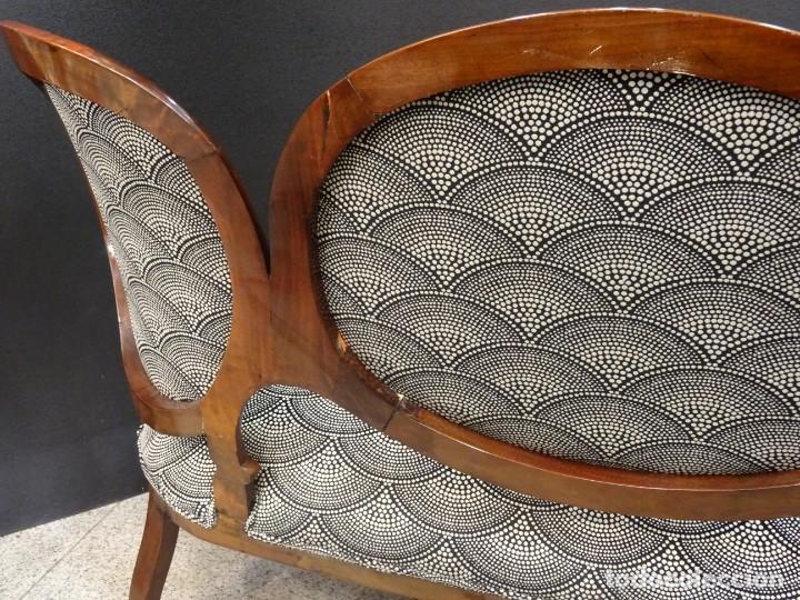 Antigüedades: Canapé Luis XV S.XIXen madera decaoba y recién tapizado por Cole&Son - Foto 28 - 188052595