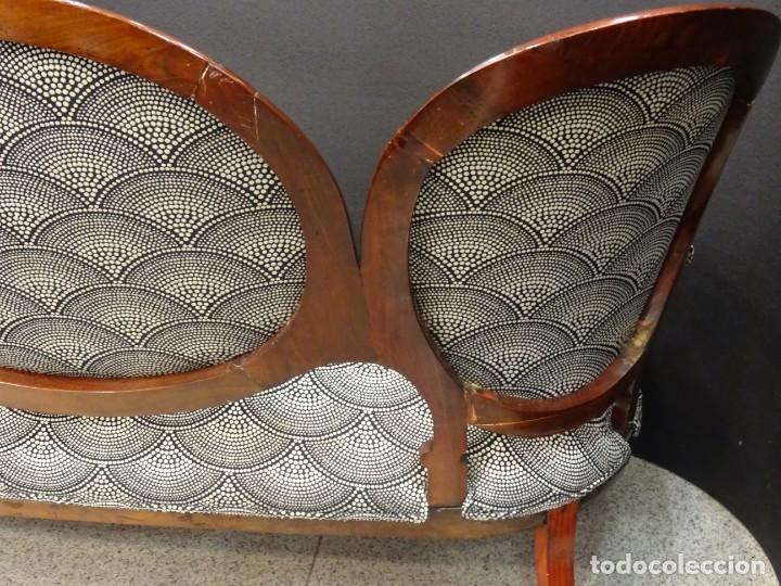 Antigüedades: Canapé Luis XV S.XIXen madera decaoba y recién tapizado por Cole&Son - Foto 29 - 188052595