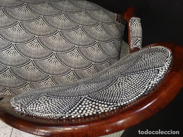 Antigüedades: Canapé Luis XV S.XIXen madera decaoba y recién tapizado por Cole&Son - Foto 31 - 188052595
