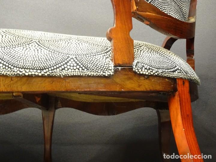 Antigüedades: Canapé Luis XV S.XIXen madera decaoba y recién tapizado por Cole&Son - Foto 34 - 188052595