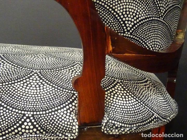 Antigüedades: Canapé Luis XV S.XIXen madera decaoba y recién tapizado por Cole&Son - Foto 35 - 188052595
