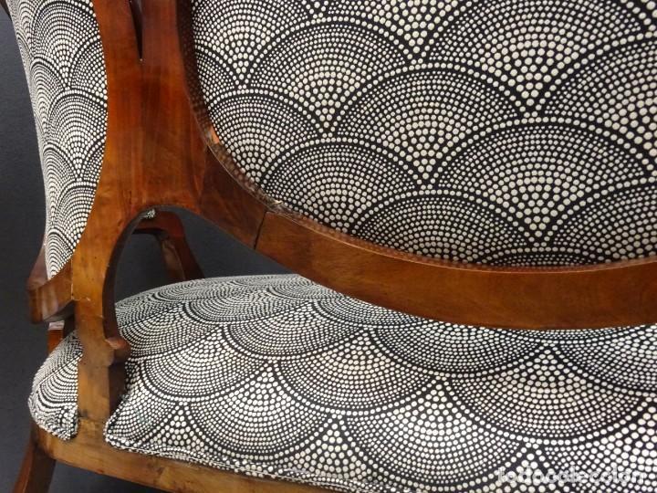 Antigüedades: Canapé Luis XV S.XIXen madera decaoba y recién tapizado por Cole&Son - Foto 36 - 188052595