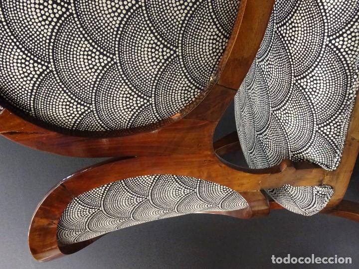 Antigüedades: Canapé Luis XV S.XIXen madera decaoba y recién tapizado por Cole&Son - Foto 37 - 188052595