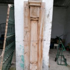 Antigüedades: COLUMNA DE MADERA DE TEKA. Lote 189822173