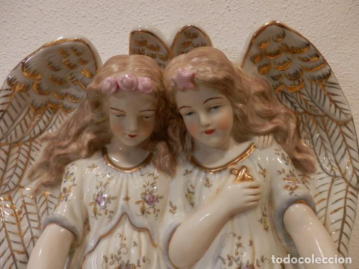 Antigüedades: BONITA BENDITERA CON ANGELES, GRANDE, 40 X 32 CM, PORCELANA MEISSEN R.B., 1ª MITAD DEL SIGLO XX - Foto 6 - 189899858
