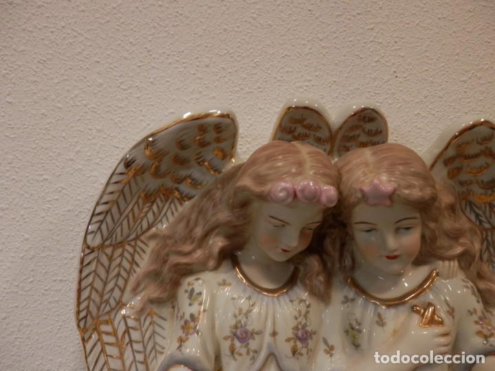 Antigüedades: BONITA BENDITERA CON ANGELES, GRANDE, 40 X 32 CM, PORCELANA MEISSEN R.B., 1ª MITAD DEL SIGLO XX - Foto 10 - 189899858