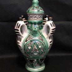 Antigüedades: BOTIJO 4 ASAS DOMINGO PUNTER TERUEL ANTIGUO. Lote 189902062