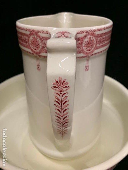 Antigüedades: Excepcional antiguo aguamanil, jarra y palangana, modernista, Art-Decó, gran tamaño, sello BOCH - Foto 2 - 189926413