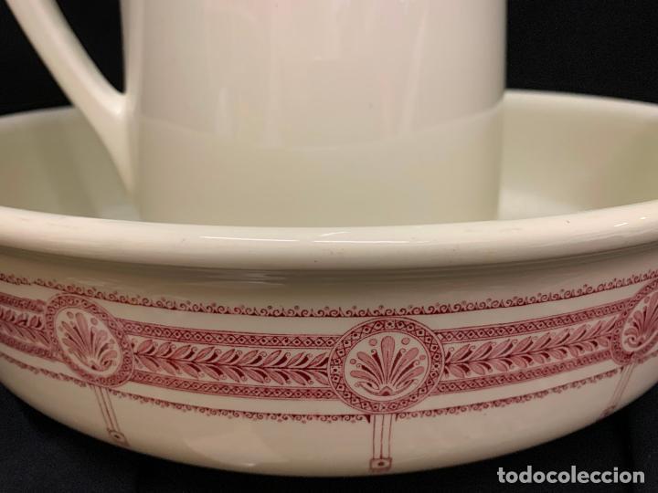 Antigüedades: Excepcional antiguo aguamanil, jarra y palangana, modernista, Art-Decó, gran tamaño, sello BOCH - Foto 3 - 189926413