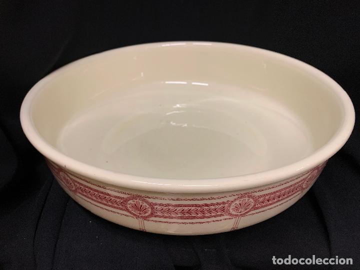 Antigüedades: Excepcional antiguo aguamanil, jarra y palangana, modernista, Art-Decó, gran tamaño, sello BOCH - Foto 8 - 189926413