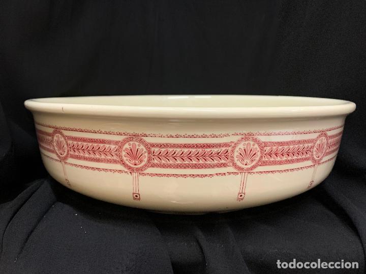 Antigüedades: Excepcional antiguo aguamanil, jarra y palangana, modernista, Art-Decó, gran tamaño, sello BOCH - Foto 9 - 189926413