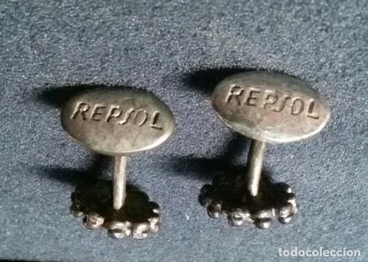 BONITOS ANTIGUOS GEMELOS REPSOL (Antigüedades - Moda - Gemelos Antiguos)