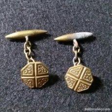 Antigüedades: BONITOS ANTIGUOS GEMELOS AÑOS 40. Lote 189955817