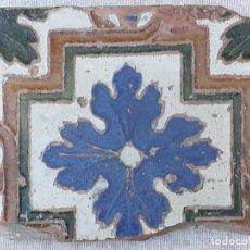 Antigüedades: AZULEJO ANTIGUO DE TOLEDO - ARISTA - RENACIMIENTO - SIGLO XVI.. Lote 189970987