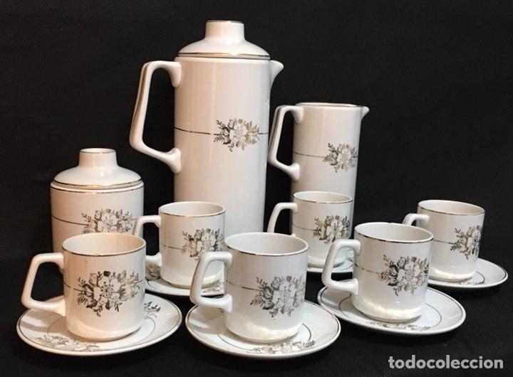 JUEGO DE TÉ O CAFÉ SAN CLAUDIO OVIEDO ANTIGUO (Antigüedades - Porcelanas y Cerámicas - San Claudio)